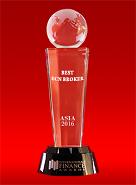 The Best ECN Broker in Asia 2016 by International Finance Awards