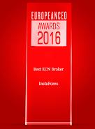 The Best ECN Broker 2016 according to European CEO Awards